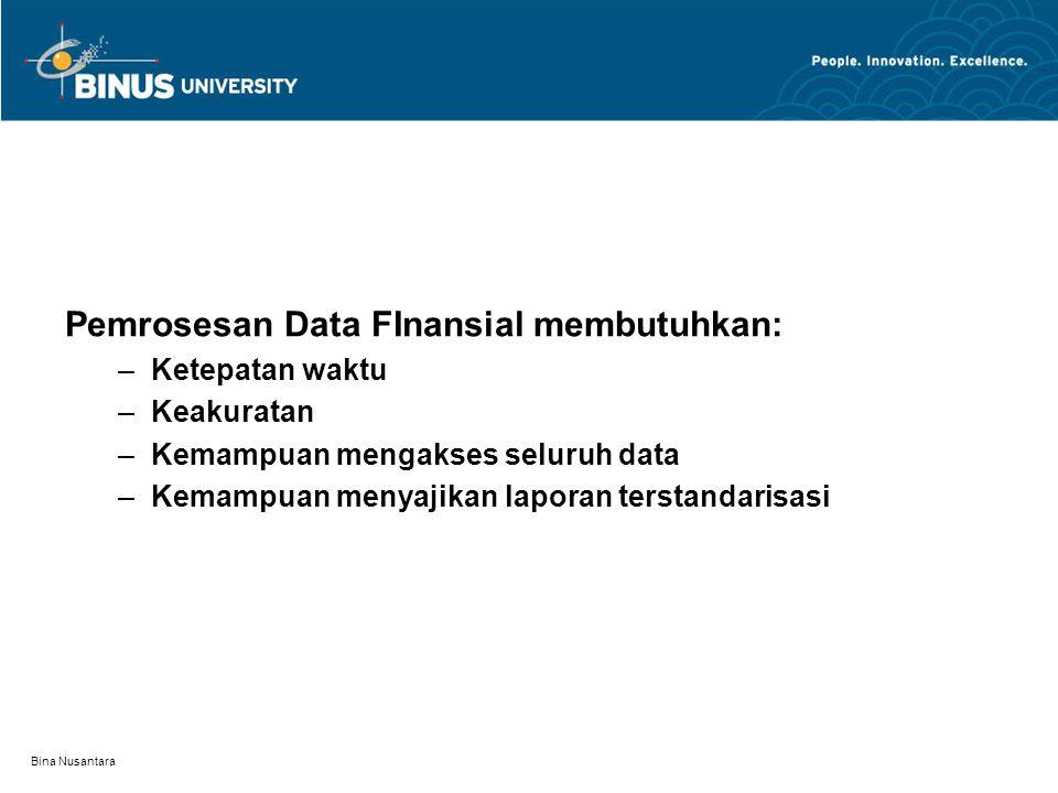 Bina Nusantara Hubungan antara fungsi keuangan dan audit teknologi informasi