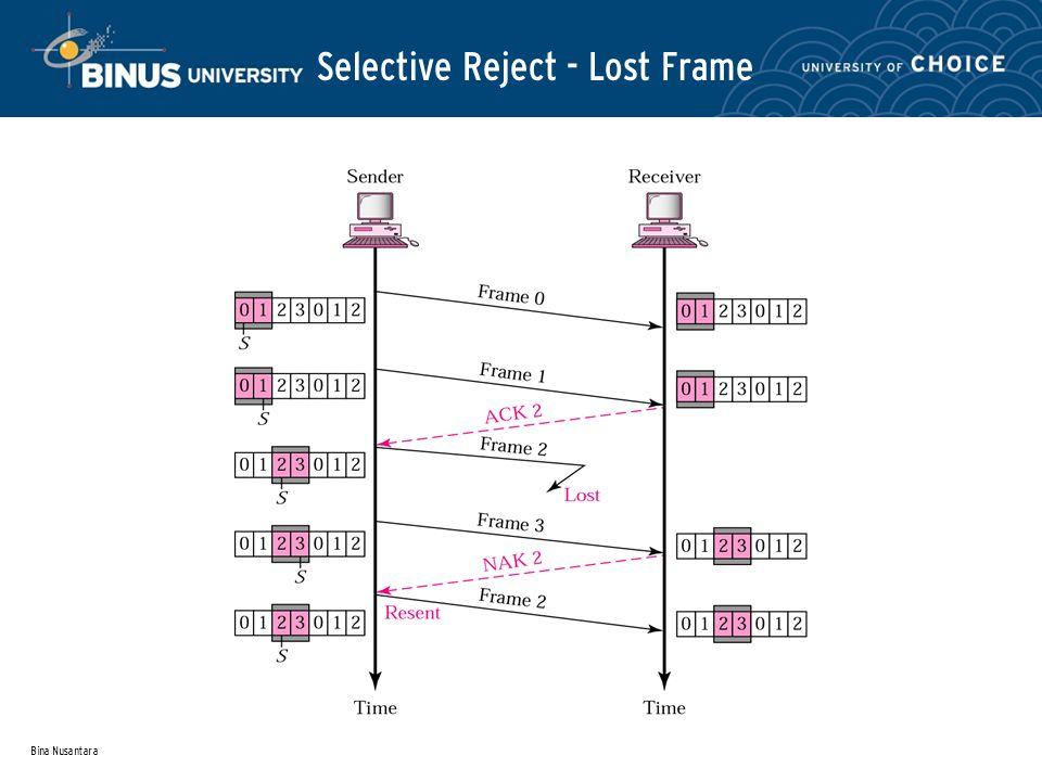 Bina Nusantara Selective Reject - Lost Frame