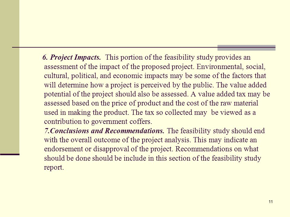 11 6.Project Impacts.