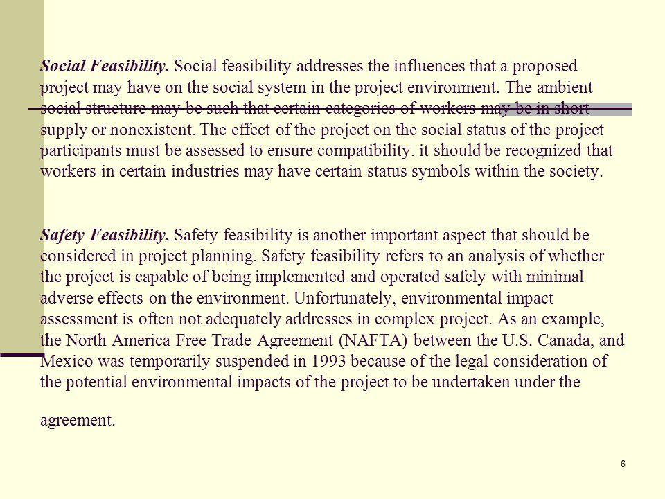7 Political Feasibility.