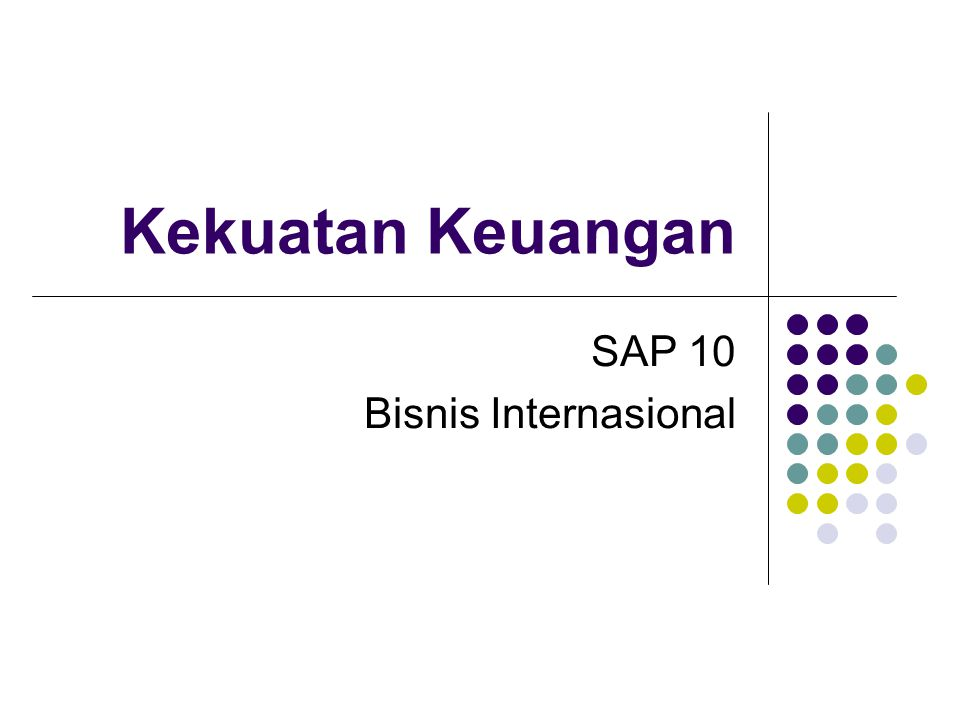 Kekuatan Keuangan SAP 10 Bisnis Internasional