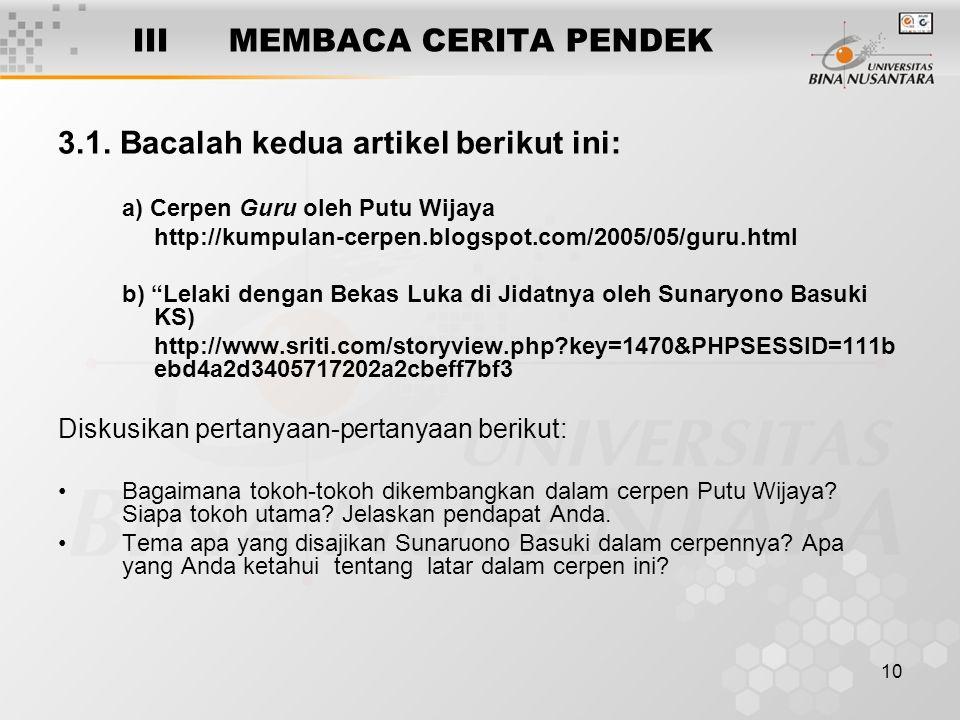 10 IIIMEMBACA CERITA PENDEK 3.1.