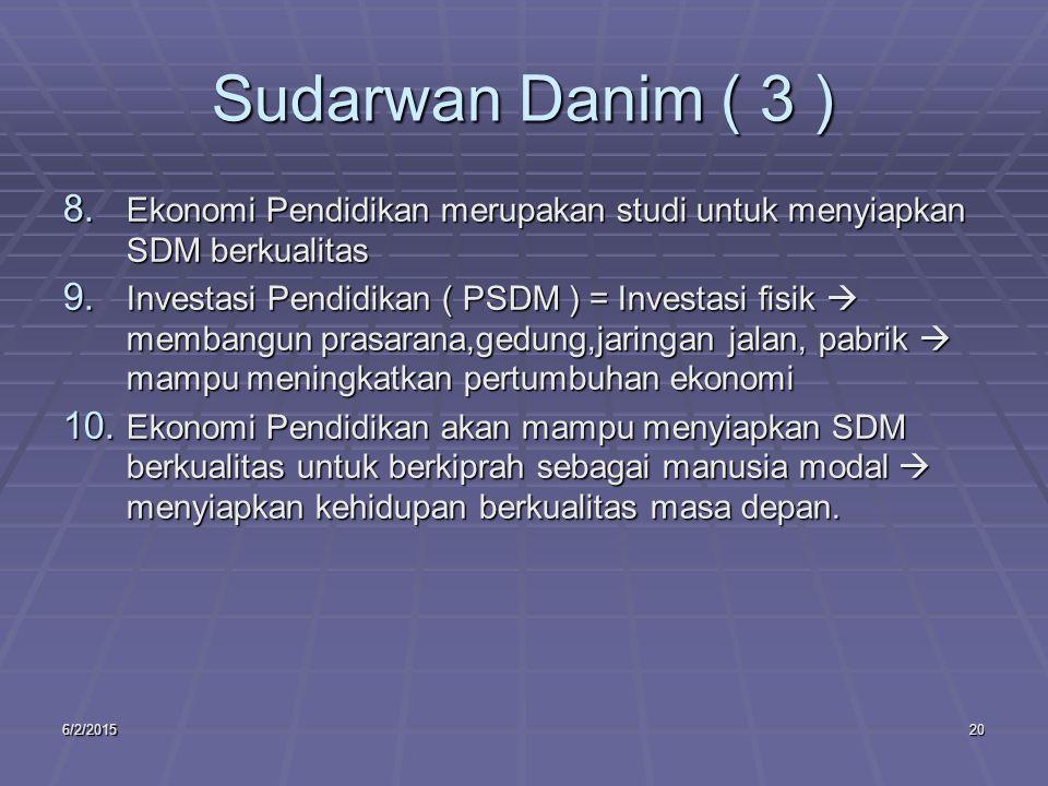 6/2/201520 Sudarwan Danim ( 3 ) 8.