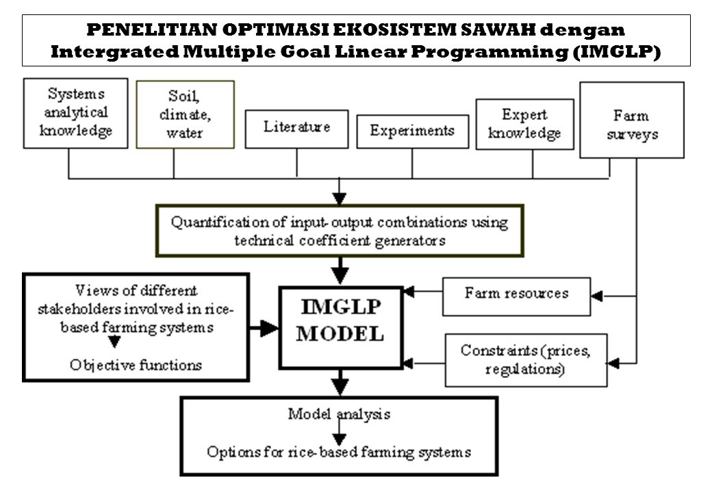 PENELITIAN OPTIMASI EKOSISTEM SAWAH dengan Intergrated Multiple Goal Linear Programming (IMGLP)
