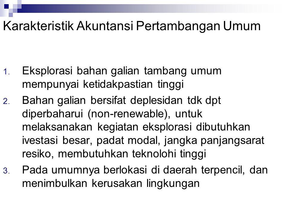 Karakteristik Akuntansi Pertambangan Umum 1.