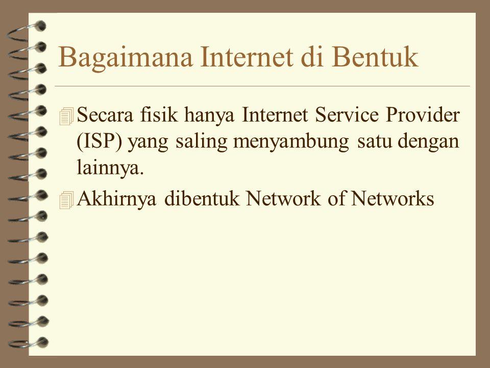 Ciri Khas Internet 4 Network of Networks 4 Di backup oleh banyak volunteer yang berdedikasi.