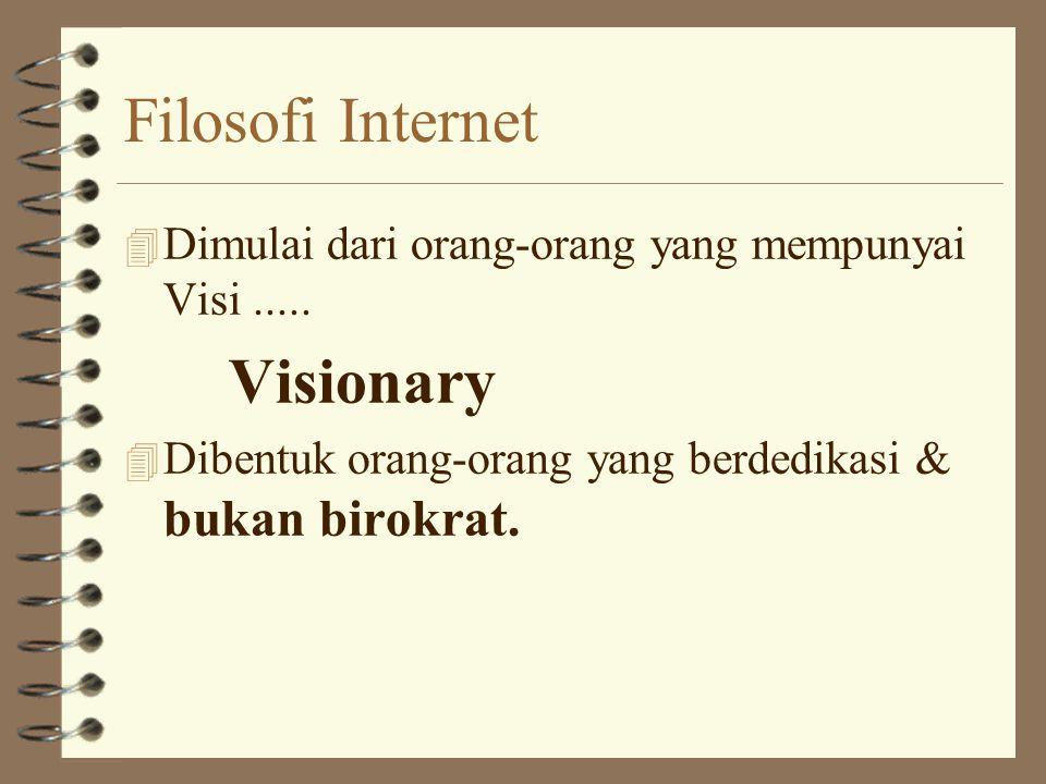 Inti Sejarah Internet 4 Berawal dari ide / konsep di tahun 1962.