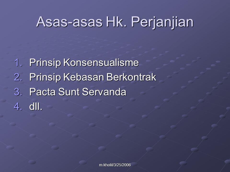m.kholil/3/25/2006 Asas-asas Hk.