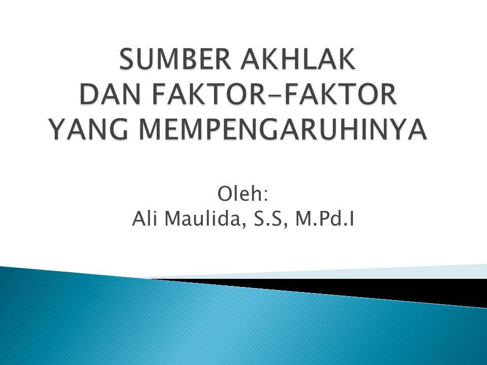 Oleh: Ali Maulida, S.S, M.Pd.I