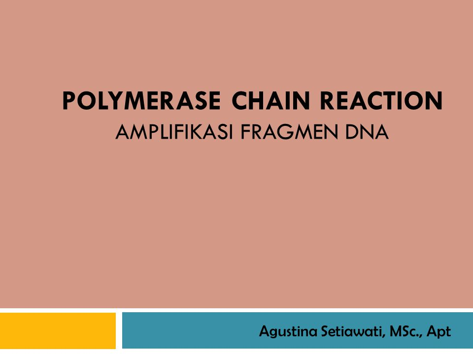 Background on the Polymerase Chain Reaction (PCR) Ability to generate identical high copy number DNAs made possible in the 1970s by recombinant DNA technology (i.e., cloning).