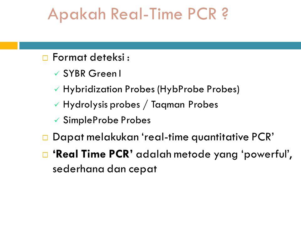 Apakah Real-Time PCR .