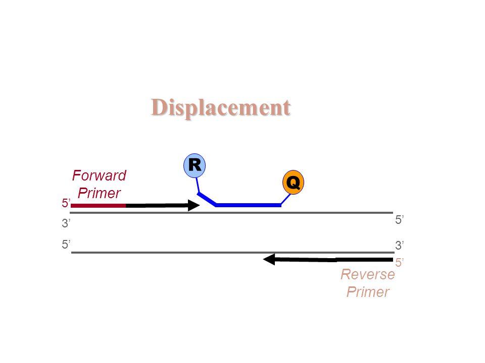 Displacement 5' 3' 5' 3' 5' Forward Primer Reverse Primer R Q