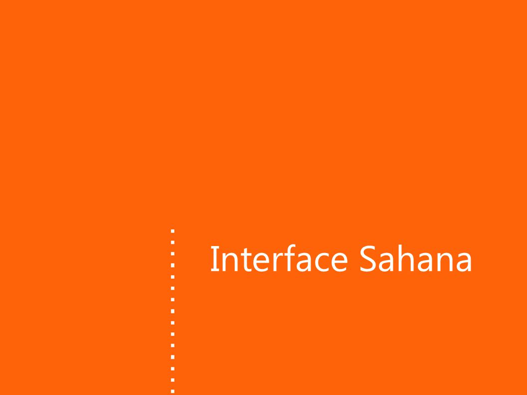 Interface Sahana
