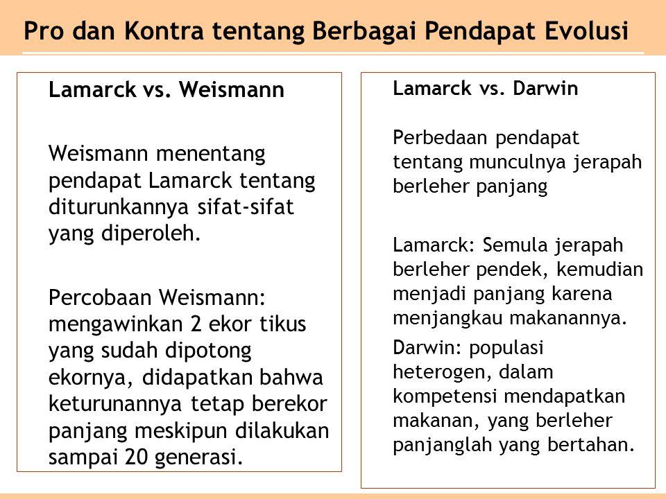 Lamarck vs.