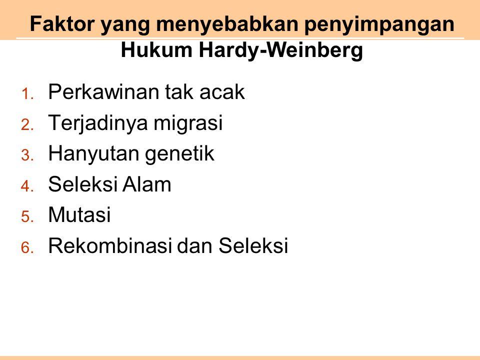 Faktor yang menyebabkan penyimpangan Hukum Hardy-Weinberg 1.