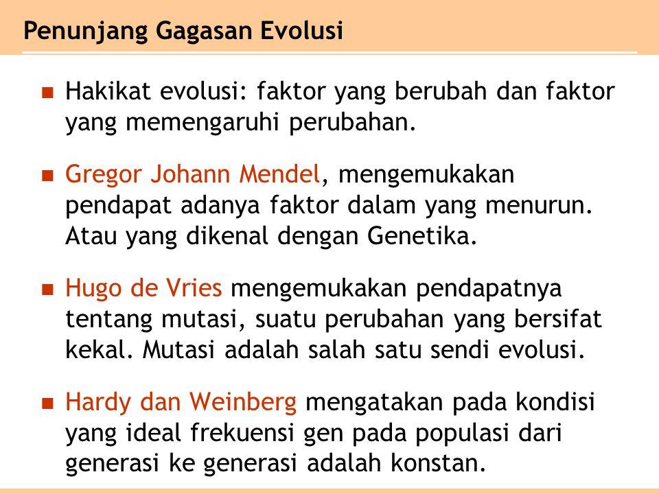 Pencetus Teori Evolusi 1.