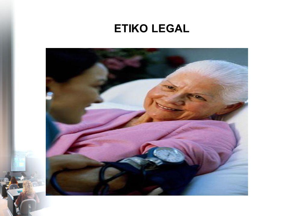 PENGERTIAN Bagian perilaku tenaga kesehatan/rumah sakit yang diatur oleh norma etika dan norma hukum sekaligus Etikolegal bukan keseluruhan norma etika & keseluruhan norma hukum/legal Tidak termasuk -perilaku yang hanya diatur norma etika -Perilaku yang hanya diatur norma hukum