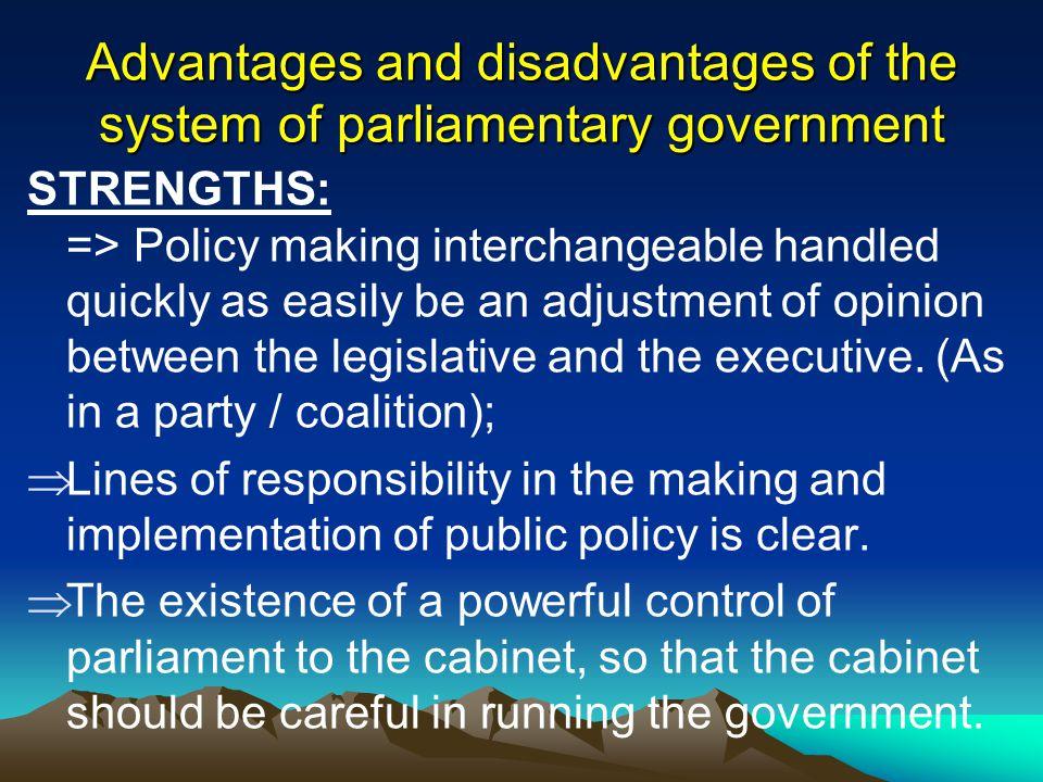 a. Ciri-ciri pemerintahan parlementer : a. Ciri-ciri pemerintahan parlementer : 1. Raja/ Ratu atau presiden adalah kepala negara. 2. Kepala negara tid