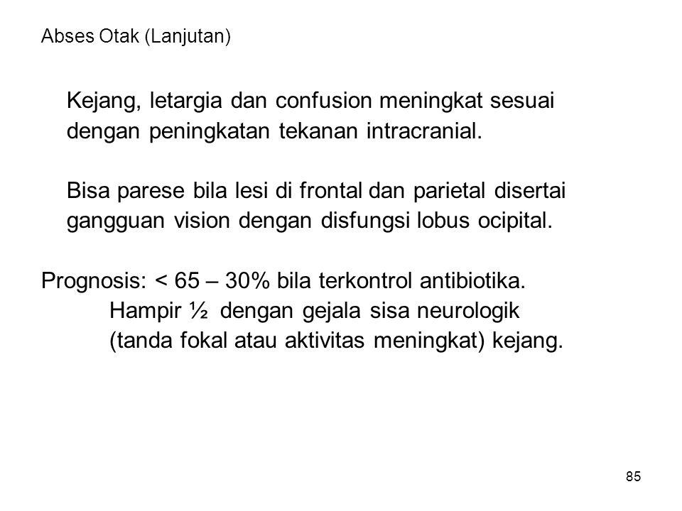 86 ENCEPHALITIS Causa: invasi direk virus atau viral hipersensitivitas.