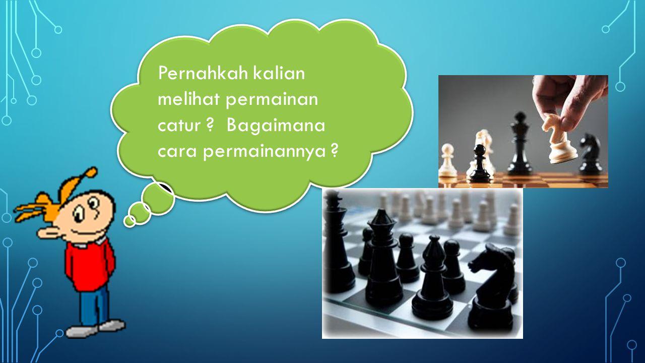 Pernahkah kalian melihat permainan catur ? Bagaimana cara permainannya ?