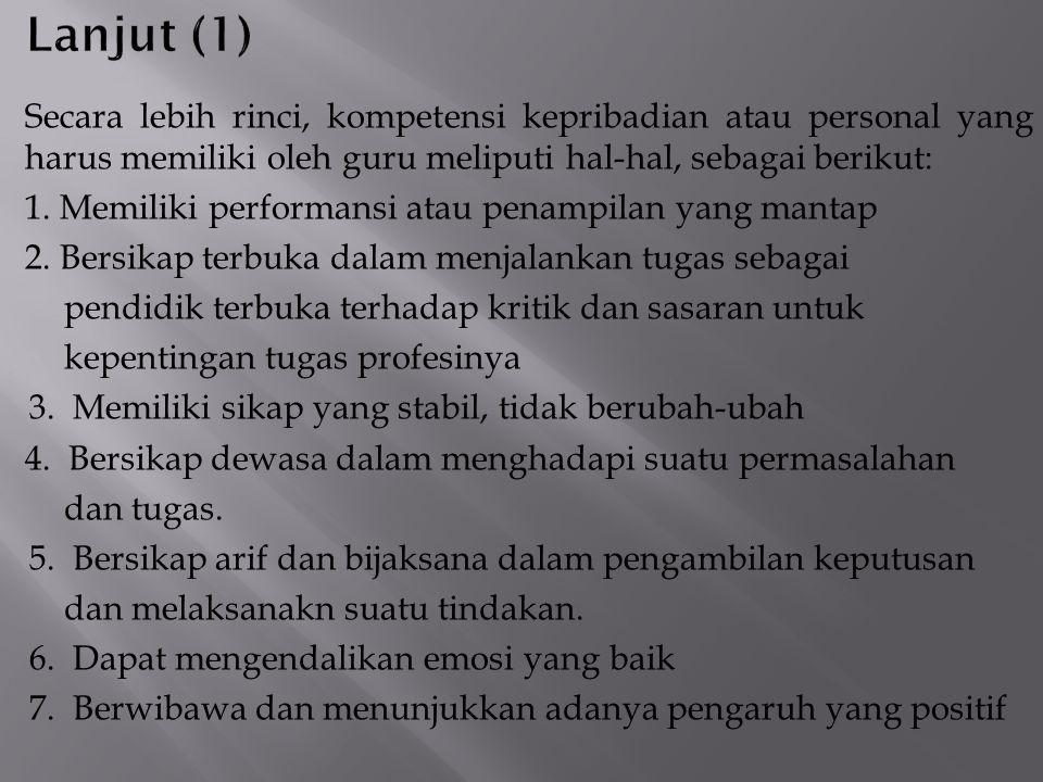 8.Bertindak sesuai dengan norma agama, hukum, sosial dan kebudayaan.