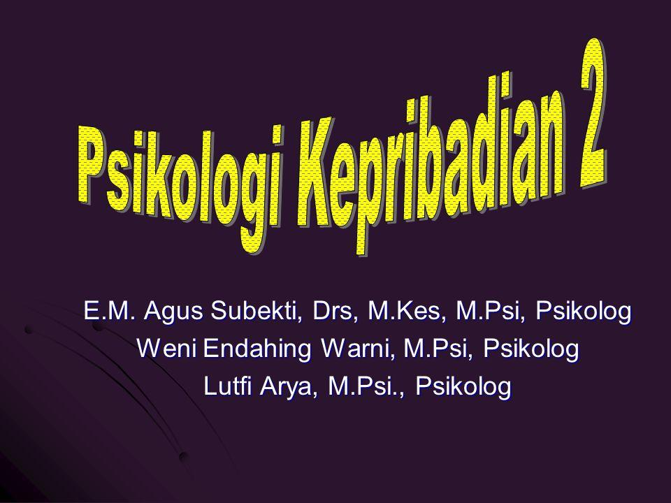 E.M. Agus Subekti, Drs, M.Kes, M.Psi, Psikolog Weni Endahing Warni, M.Psi, Psikolog Lutfi Arya, M.Psi., Psikolog