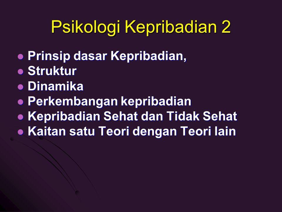 Psikologi Kepribadian 2 1.1. Teori Behavior Klasik – Skinner 2.
