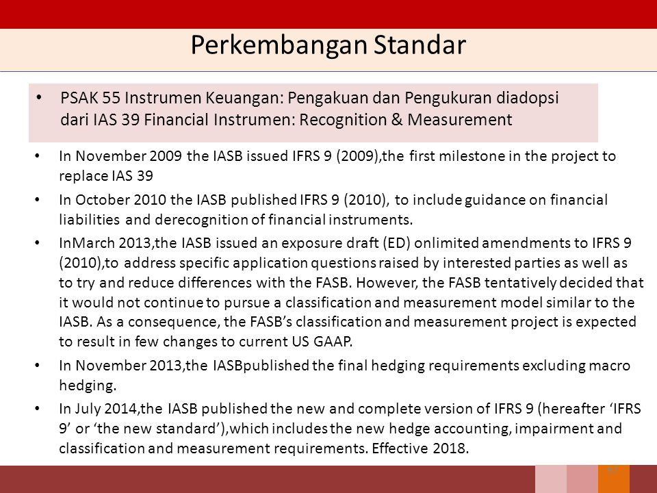 Agenda Overview PSAK 55 dan perubahannya 1 Definisi 2 Pengakuan, pengukuran, penyajian 3 Ilustrasi dan Contoh 4 96