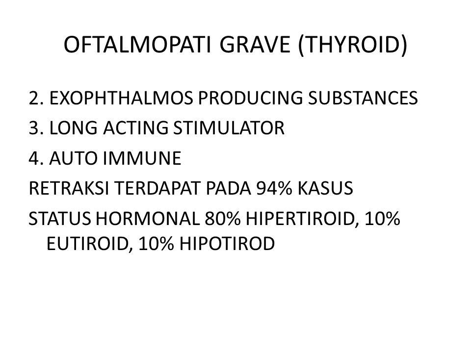 OFTALMOPATI GRAVE (THYROID) 2.EXOPHTHALMOS PRODUCING SUBSTANCES 3.