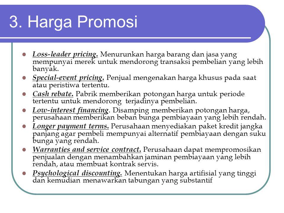 3.Harga Promosi Loss-leader pricing.