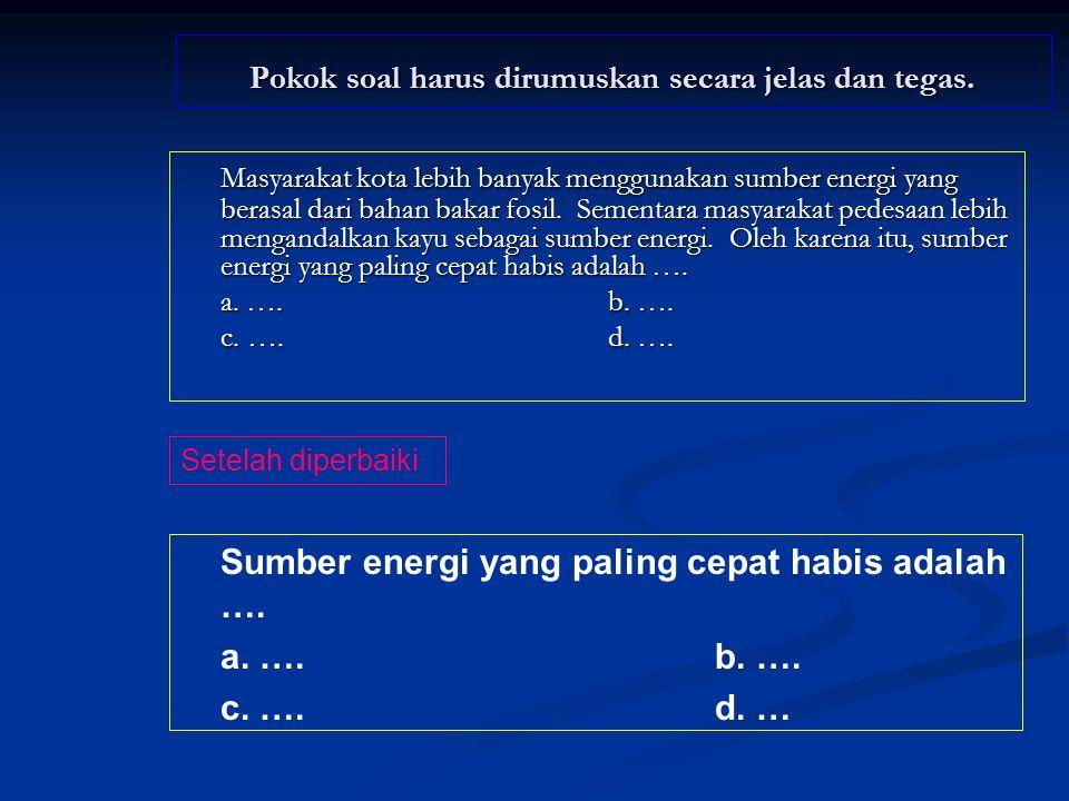 Hanya ada satu kunci jawaban yang tepat Hasil tambang yang termasuk sumber tenaga adalah ….