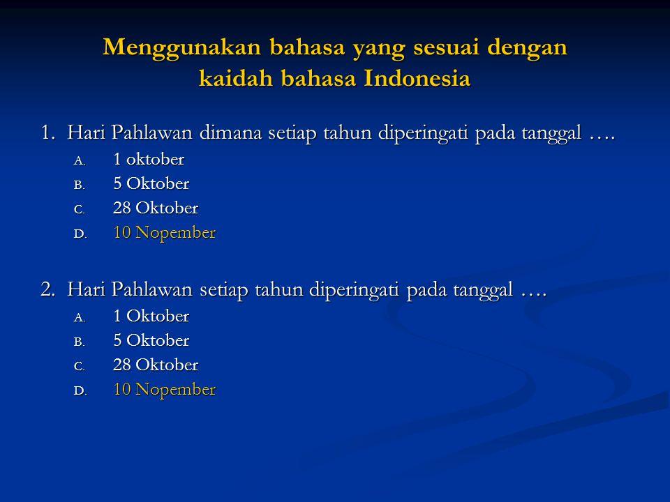 Setiap soal harus menggunakan bahasa yang sesuai dengan kaidah bahasa Indonesia Fikri punya duit Rp.