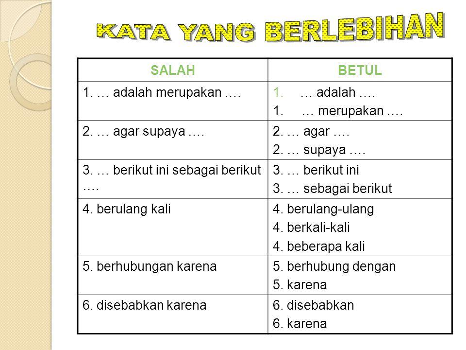 KAIDAH BAHASA INDONESIA DALAM PENULISAN SOAL BENTUK PG 1.