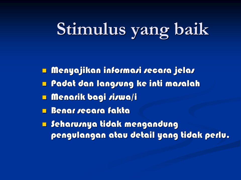 Materi Stimulus teks (narasi, penjelasan, pendapat, informasi) teks (narasi, penjelasan, pendapat, informasi) diagram/map diagram/map grafik grafik tabel tabel kombinasi dari yang diatas kombinasi dari yang diatas