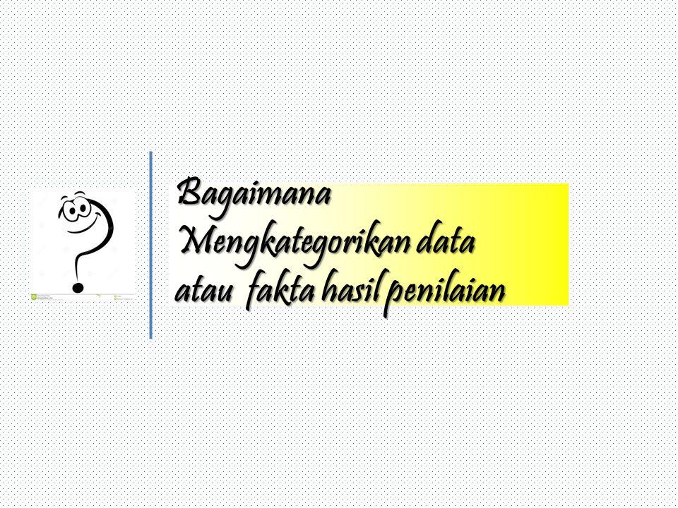 Bagaimana Mengkategorikan data atau fakta hasil penilaian