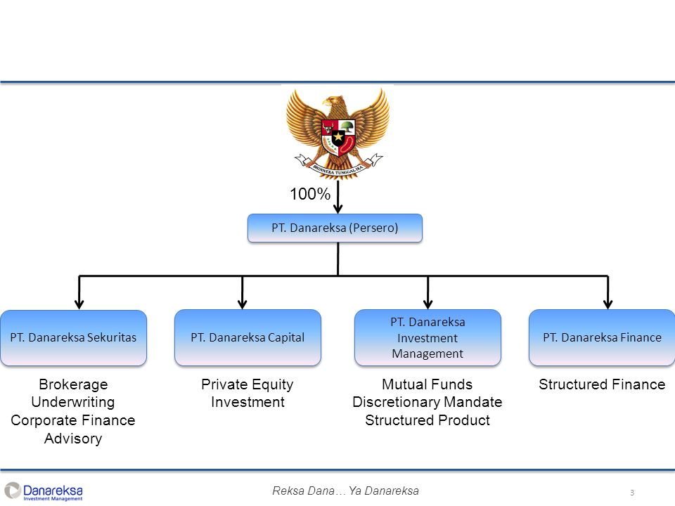 3 PT. Danareksa (Persero) PT. Danareksa Investment Management PT. Danareksa Finance PT. Danareksa Capital PT. Danareksa Sekuritas Private Equity Inves