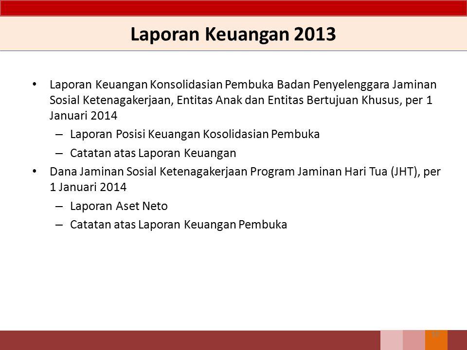 Laporan Keuangan 2013 Laporan Keuangan Konsolidasian Pembuka Badan Penyelenggara Jaminan Sosial Ketenagakerjaan, Entitas Anak dan Entitas Bertujuan Kh
