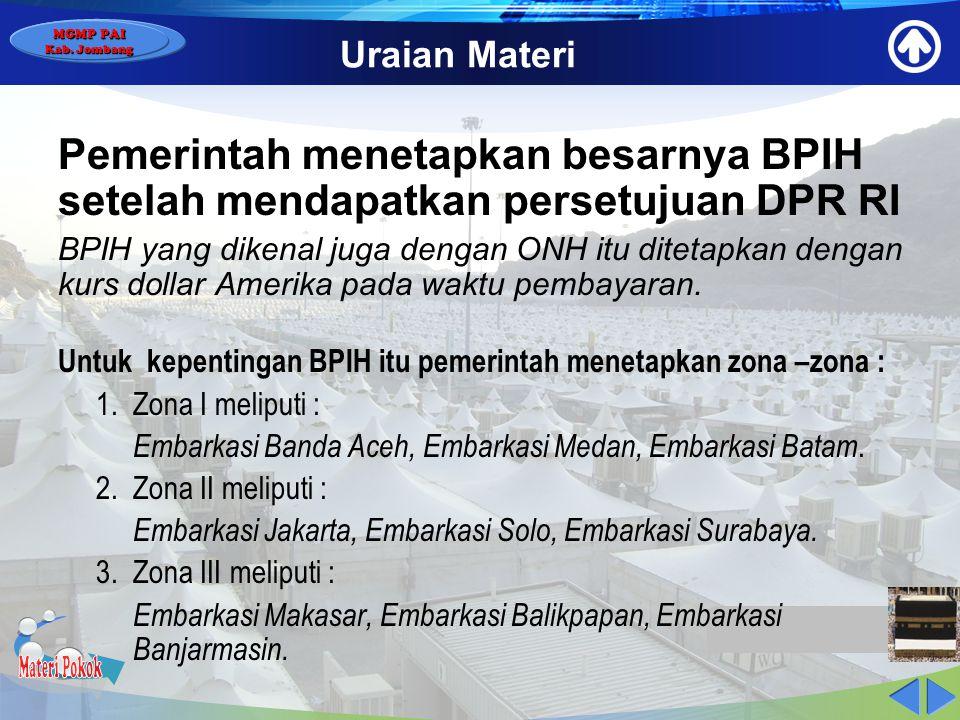 MGMP PAI Kab. Jombang Uraian Materi Penyelenggara haji dan umrah di Indonesia. 1.Penyelenggara : Pemerintah dan/atau masyarakat dibawah koordinasi Men