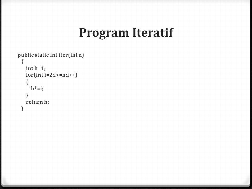 Faktorial Rekursif Metode Rekursif Berikut fungsi matematika faktorial : 0 Cara lain untuk menyelesaikan permasalahan di atas adalah dengan cara rekursi, dimana n.