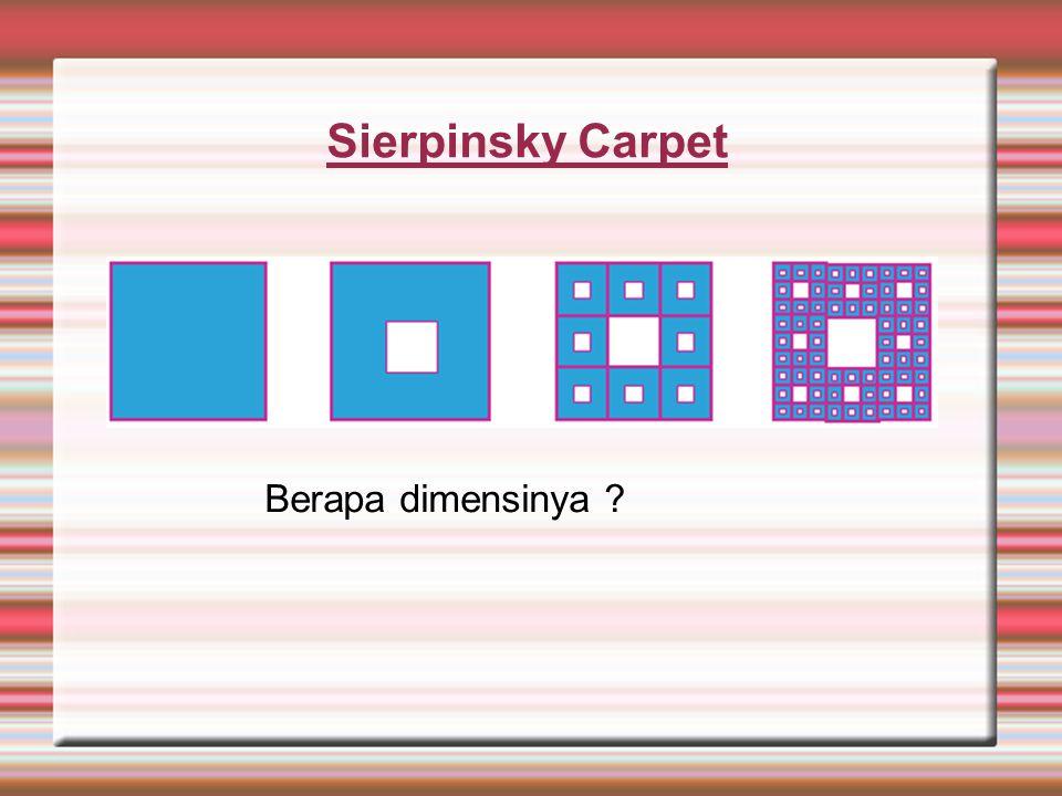 Sierpinsky Carpet Berapa dimensinya ?