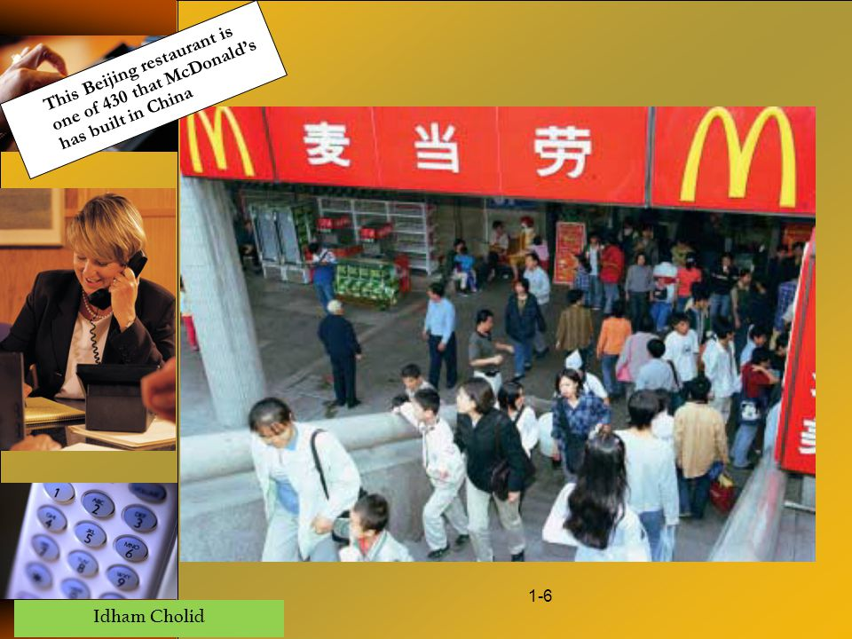 Idham Cholid 1-6 This Beijing restaurant is one of 430 that McDonald's has built in China
