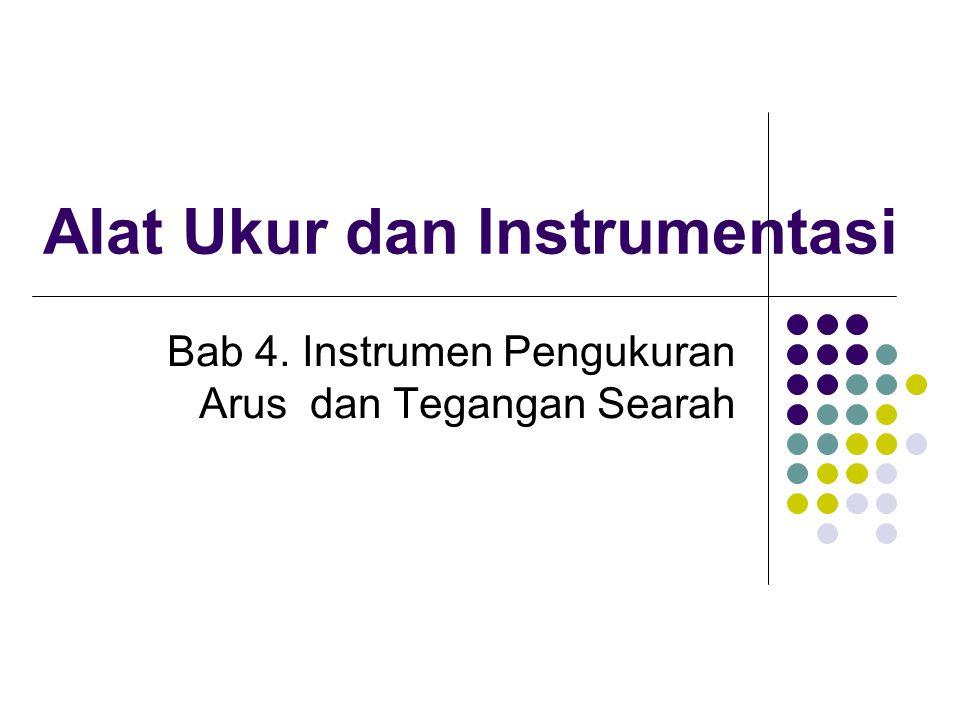 Instrumen Pengukur Arus DC Instrumen Pengukur arus listrik ampermeter memiliki keterbatasan untuk dapat mengukur arus.