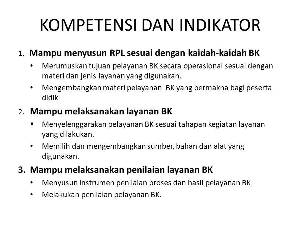KOMPETENSI DAN INDIKATOR 1.