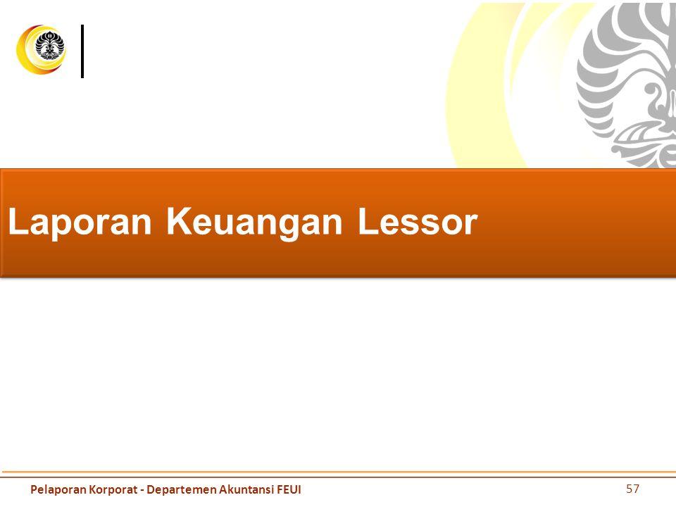 Laporan Keuangan Lessor 57 Pelaporan Korporat - Departemen Akuntansi FEUI