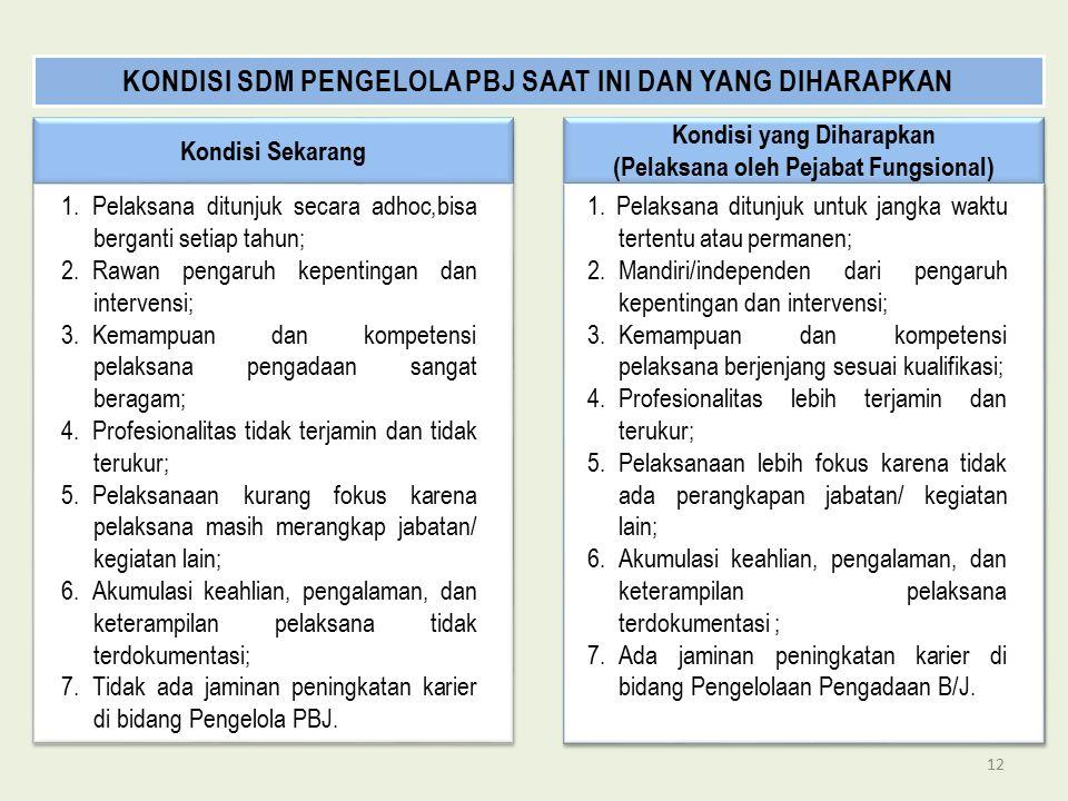 Kondisi Sekarang Kondisi yang Diharapkan (Pelaksana oleh Pejabat Fungsional) Kondisi yang Diharapkan (Pelaksana oleh Pejabat Fungsional) 1. Pelaksana