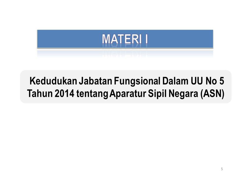 5 Kedudukan Jabatan Fungsional Dalam UU No 5 Tahun 2014 tentang Aparatur Sipil Negara (ASN)