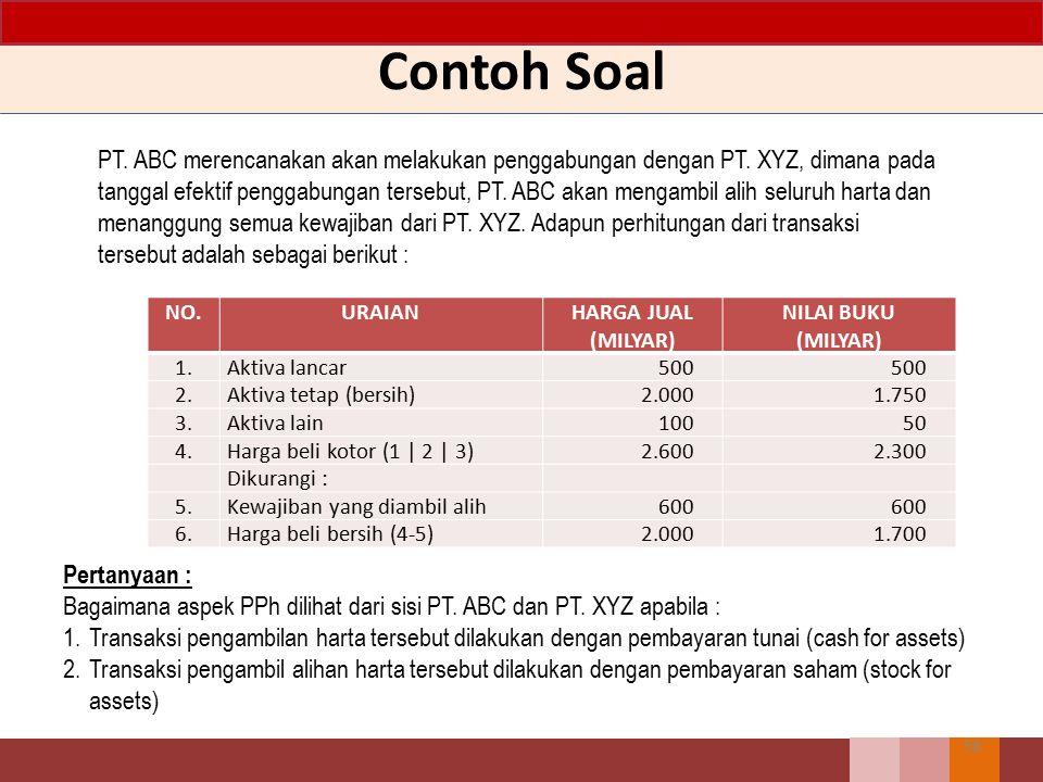 Soal 10 Syarat agar WP Badan memperoleh penurunan tarif 5% adalah... A.Minimal 40% dari modal disetor, diperdagangkan di bursa efek di Indonesia. B.Di