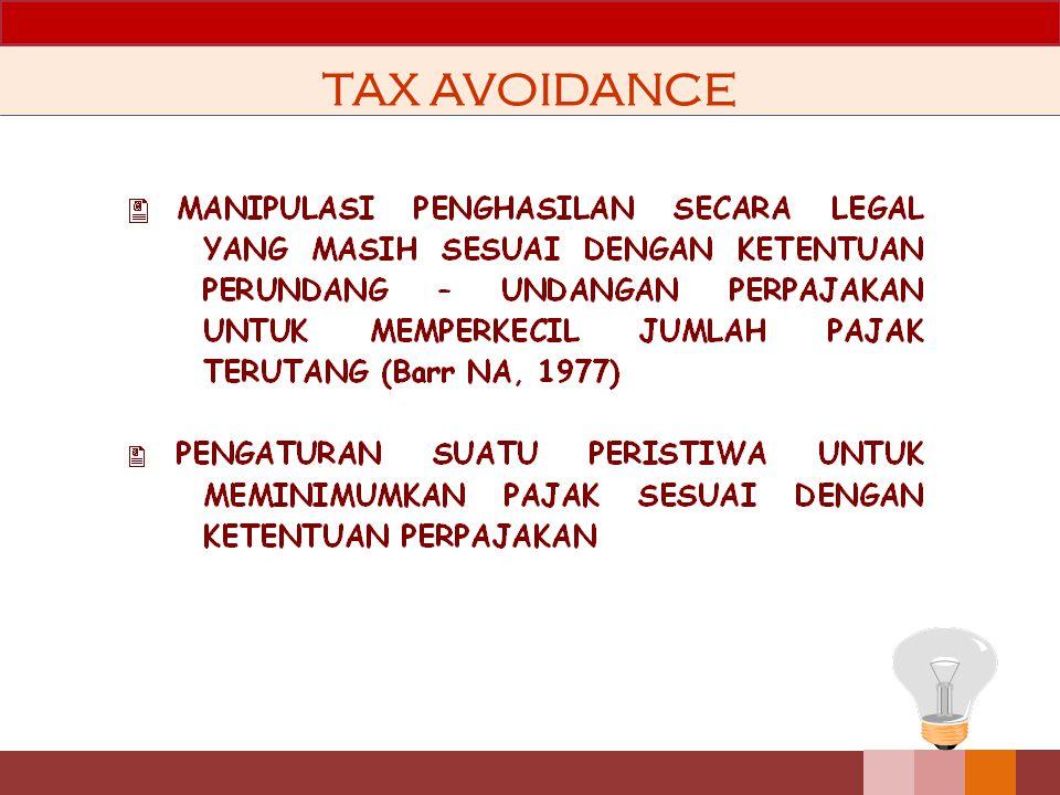 Strategi Manajemen Pajak Memperluas bisnis atau melakukan ekspansi usaha dalam bentuk badan usaha baru Menghindari pengenaan pajak berganda Menghindar