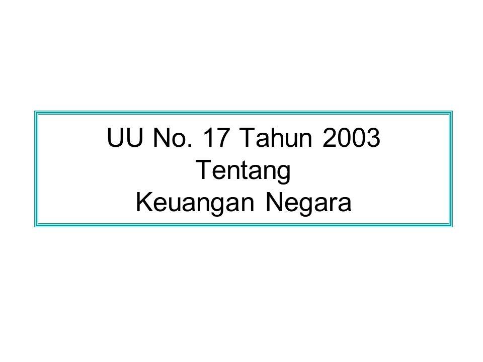 UU No. 17 Tahun 2003 Tentang Keuangan Negara