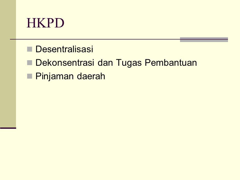 HKPD Desentralisasi Dekonsentrasi dan Tugas Pembantuan Pinjaman daerah